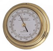 image of a brass barometer