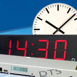 image taken from mobatime, showing master clock and two different slave clocks