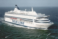 photo of a Silja Line ship on zhe high seas